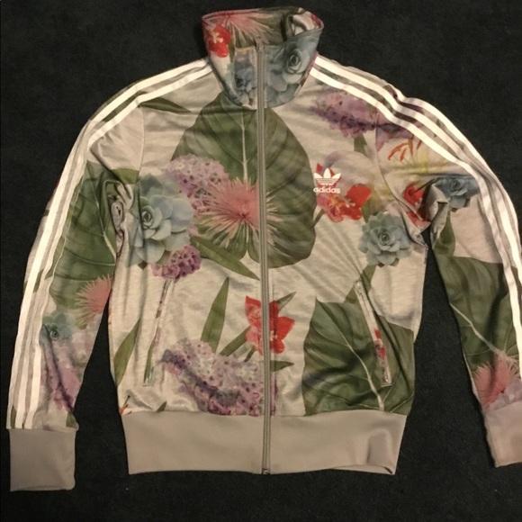 adidas botanical floral jacket